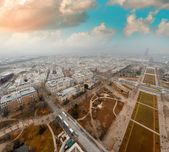 Paris. Aerial view of buildings and gardens — Stock Photo