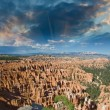 Amphitheater from Inspiration Point at sunrise, Bryce Canyon — Stock Photo
