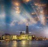 London. City Hall and surrounding buildings skyline — Stock Photo