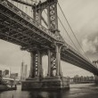 The Manhattan Bridge, New York City. — Stock Photo