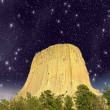 Devils Tower, Wyoming in evening light with clouds — Stock Photo #37481113