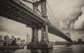 The Manhattan Bridge, New York City. — Stock Photo