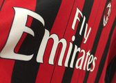 Shirt of AC Milan on November 22, 2013 in Milan — 图库照片