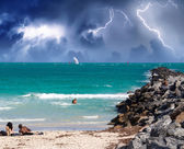 Storm approaching the Beach. — Stockfoto