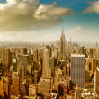 Panoramic aerial view of Midtown and Downtown Manhattan - New Yo — Stock Photo