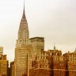 Industrial skyline of Manhattan, New York CIty — Stock Photo