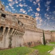 Stock Photo: Side external View of Castel Santangelo in Rome, Italy