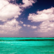 Beautiful clear caribbean turquoise sea water — Stock Photo