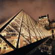 View on the Louvre Pyramid and Pavillon Rishelieu — Stock Photo