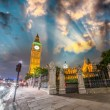Sunset colors over Westminster Palace and Big Ben. — Stock Photo #38546987