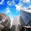 Group of Modern Buildings in London Financial District — Stock Photo