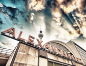 Railroad station Alexanderplatz in Berlin - Germany — Stock Photo