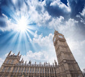 Big Ben and Palace of Westminster. Sunset in London — Stock Photo