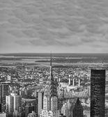 New York City Manhattan midtown aerial panorama view — Stock Photo