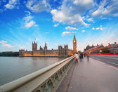 London. Sunset across Westminster Bridge — Стоковое фото