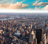 Aerial view of Gramercy and East Village at sunset — Stock Photo