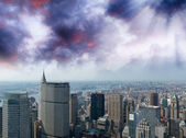 Aerial view of Midtown and Downtown Manhattan — Stock Photo