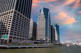 New York Skyline at dusk — Stock Photo