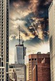 Skyline van manhattanse van new york city — Stockfoto