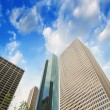 Skyscrapers, upward view from street level — Stock Photo #39676447