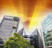 Skyline of London, view from the street — Stock Photo