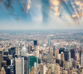 Stunning skyline and skyscrapers of Manhattan, New York — Stock Photo