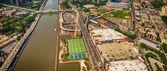 Macombs Dam Bridge and Washington Heights — Stock Photo