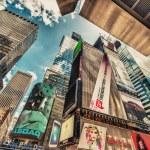 hohe Wolkenkratzer des Times square — Stockfoto #40000919