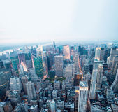 Aerial view at dusk from Empire State Building — Foto Stock