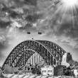 Sunset over Harbour Bridge, Sydney — Stock Photo
