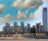 Modern buildings and Metropolis skyline — Stock Photo