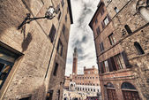 Medieval town of Siena — Stock Photo