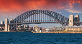 Sydney Harbour Bridge and Australian Sky — Foto de Stock
