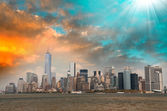 New York Skyline von governor's island — Stockfoto