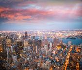 New York lights at dusk — Stock Photo