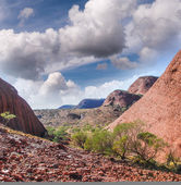 Red Rocks of Australian Outback — Stock Photo