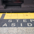 Stock Photo: Step aside sign