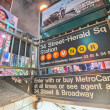 34 street subway station entrance — Stock Photo