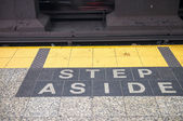 Step aside sign — 图库照片