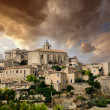 Medieval city over the hill — Stock Photo
