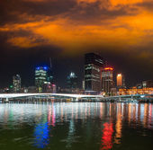 Brisbane skyline at night — Stock Photo