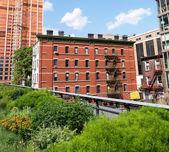 Хай-Лайн парк на Манхэттене — Стоковое фото