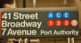 Subway signs and directions. — Stock Photo