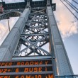 Giant Metal Pylon of Manhattan Bridge — Stock Photo