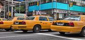 Yellow cabs — Stock Photo