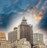 Old skyscrapers of New York. — Stock Photo