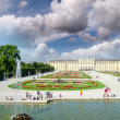 Schoenbrunn Palace with Great Parterre — Stock Photo #41786861