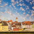 Stock Photo: Regensburg medieval skyline