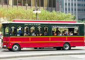 Downtown Chicago transit system — Stockfoto