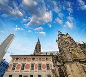 Medieval buildings of Eastern Europe — Stock Photo